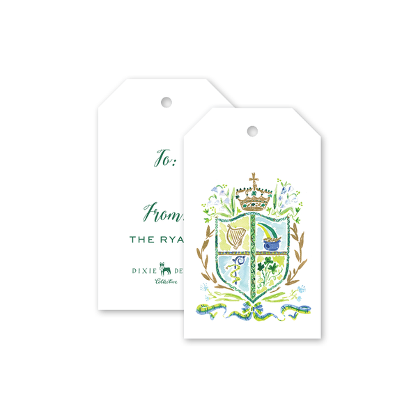 St. Patrick's Day Crest Gift Tags