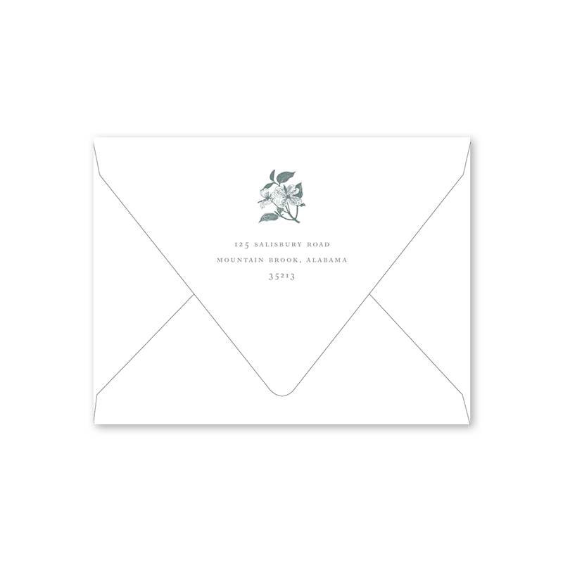 Dogwood Branch Easter Luncheon Envelopes
