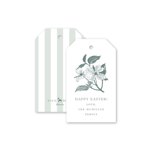 Dogwood Branch Easter Gift Tags