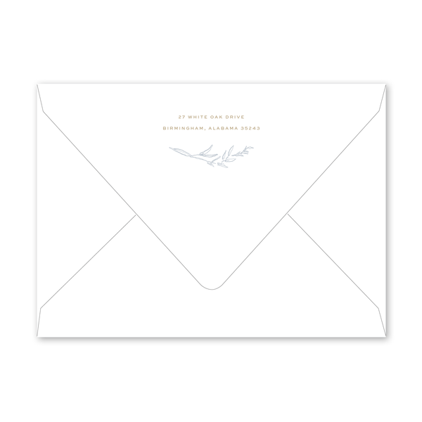 Laurel Crest Engagement Party Envelopes