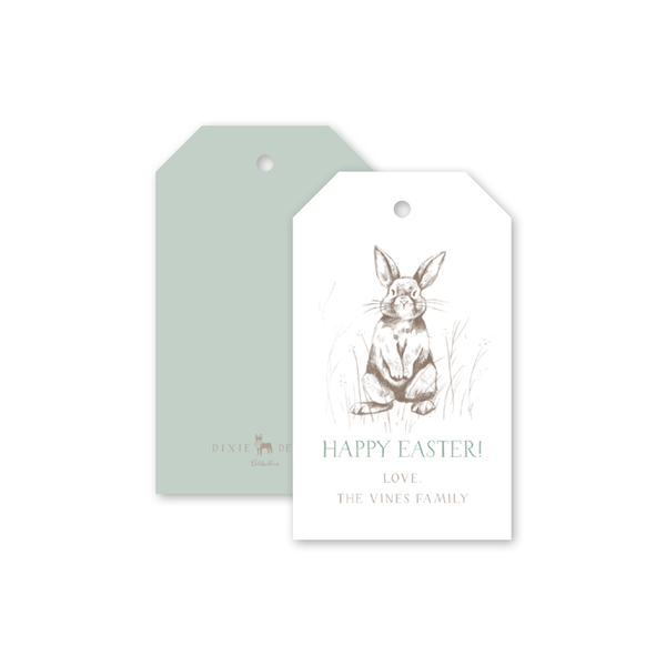 Bambini Green Easter Gift Tags