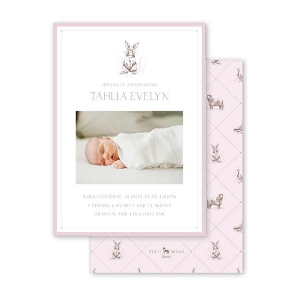Bambini Bunny Birth Announcement