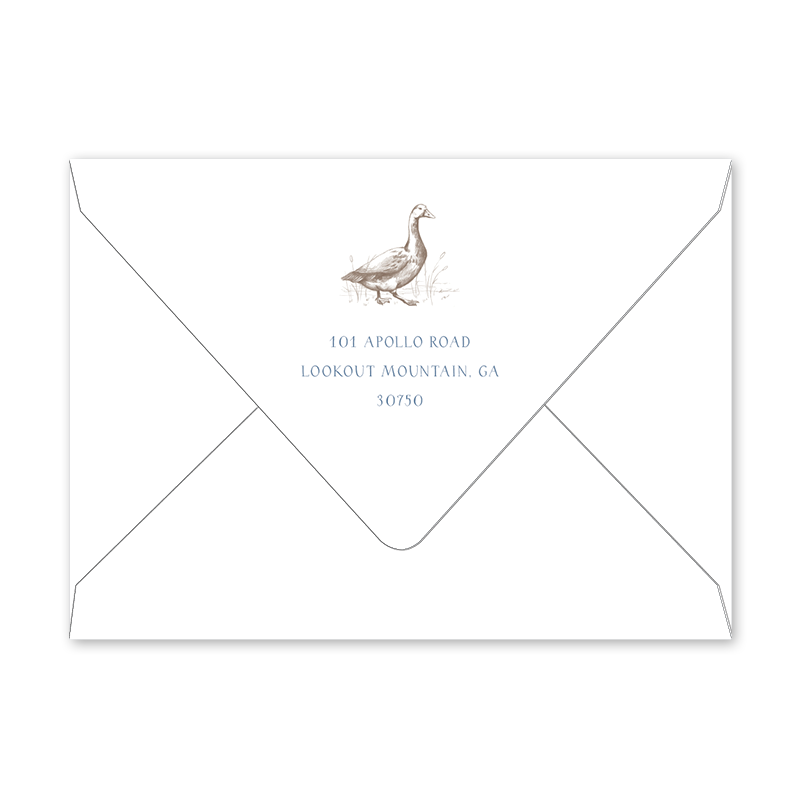 Bambini Goose Birth Announcement Envelopes