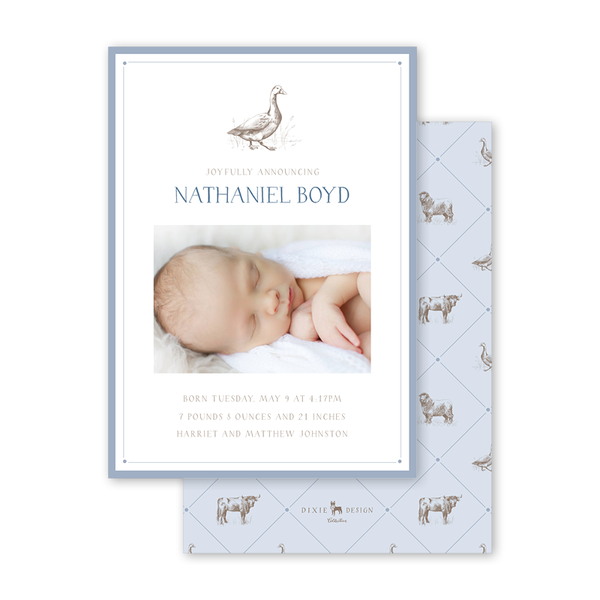 Bambini Goose Birth Announcement
