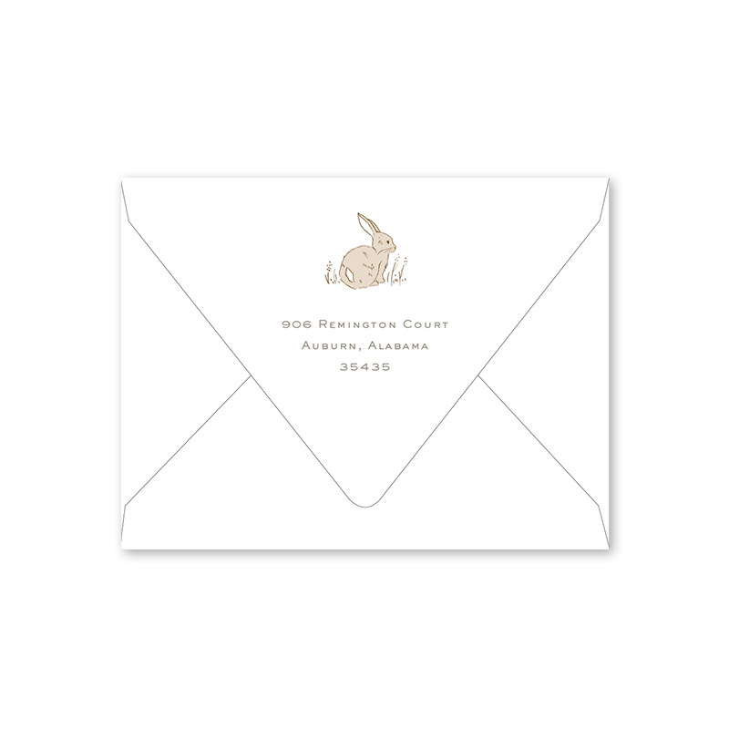 Cottontails Easter Brunch Envelopes