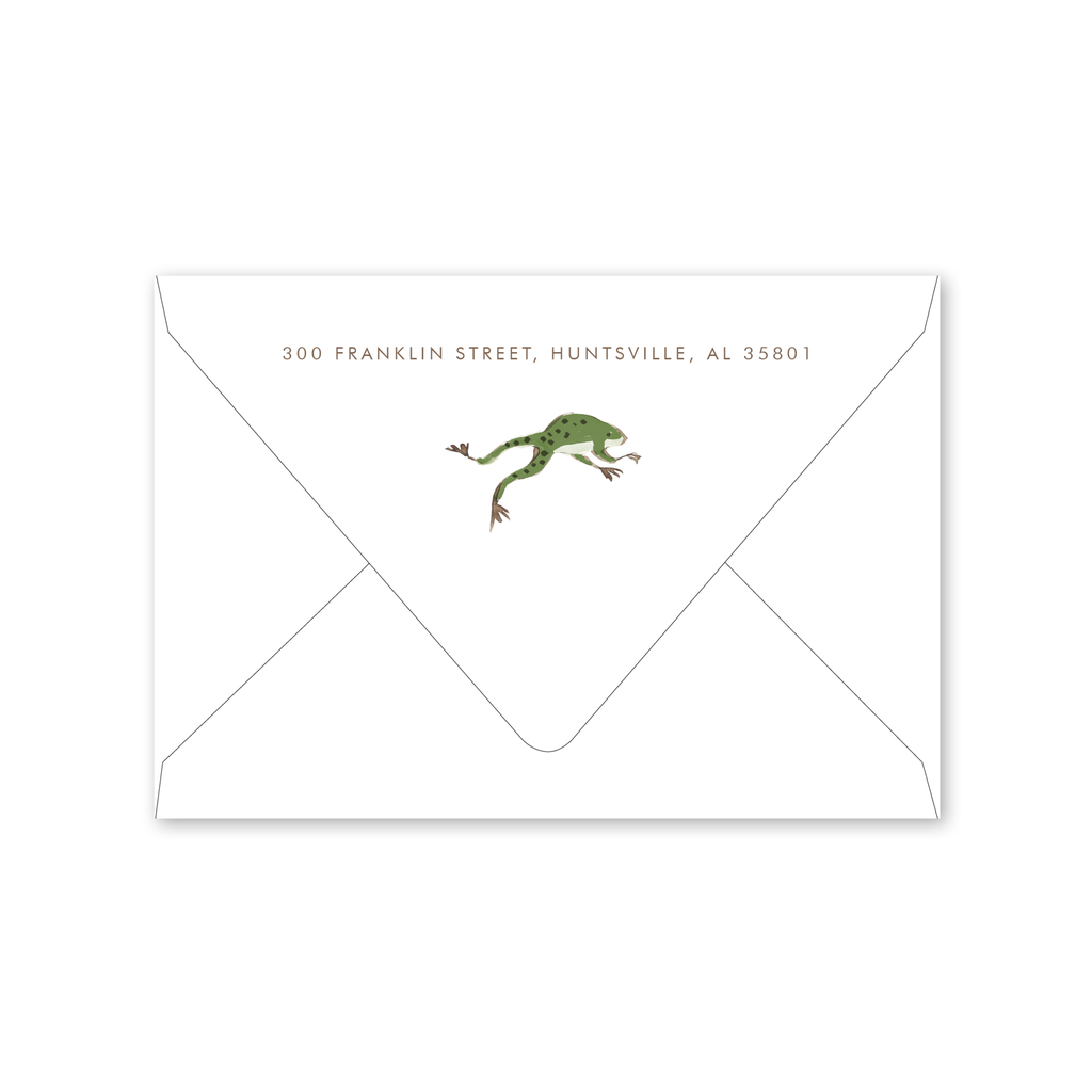 Adventure Frog Notecard Envelopes