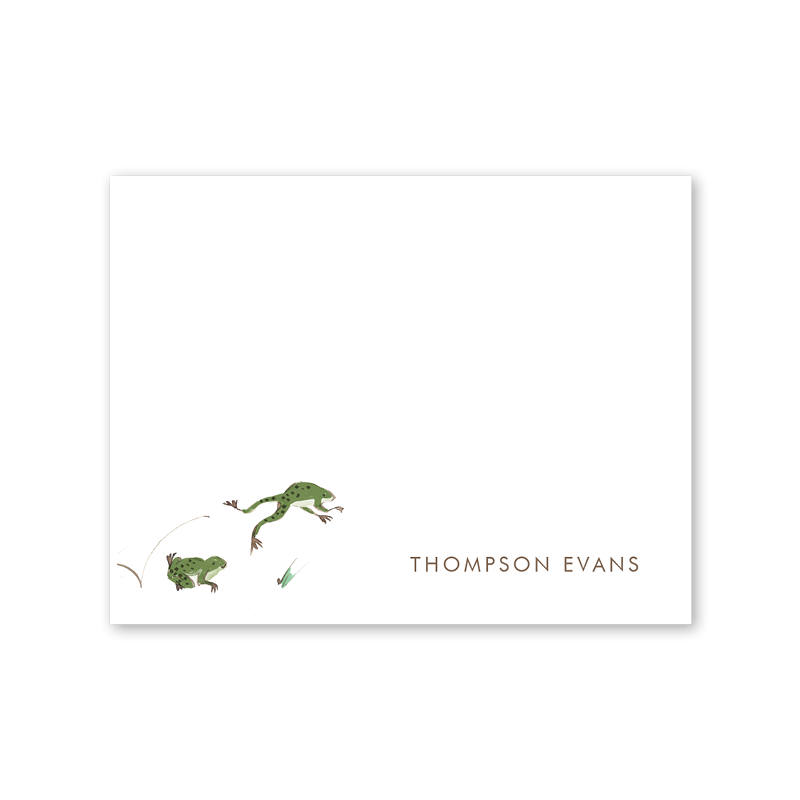 Adventure Frog Notecard