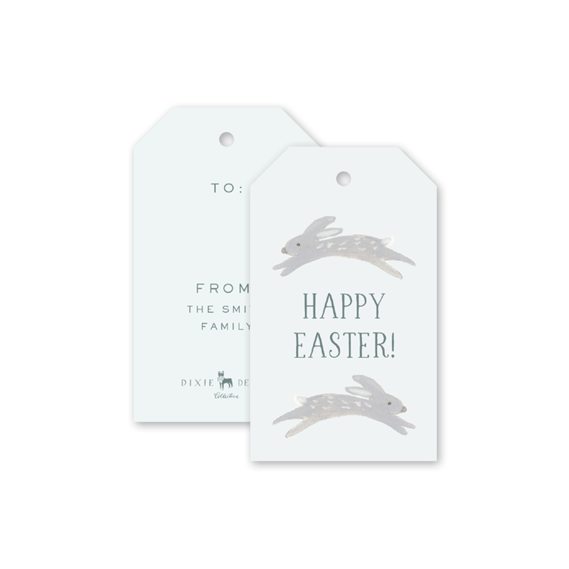Animal Friends Blue Easter Gift Tags