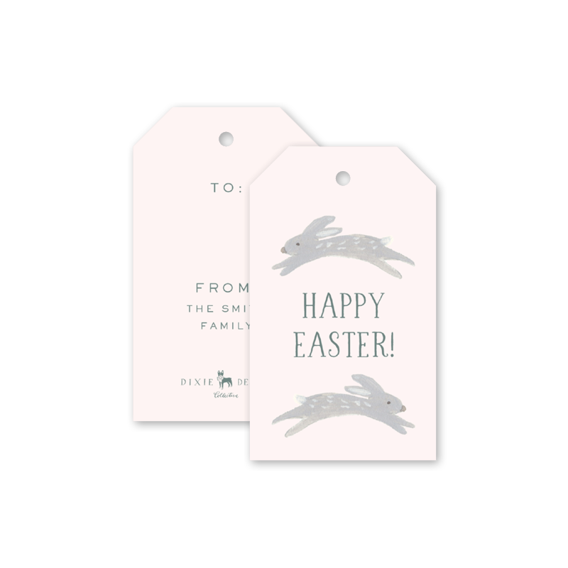 Animal Friends Pink Easter Gift Tags