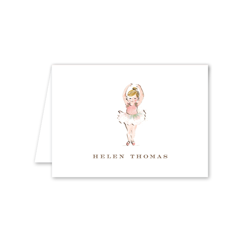 Ballerina Girl Notecard