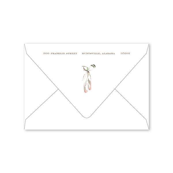 Ballerina Girl Notecard Envelopes