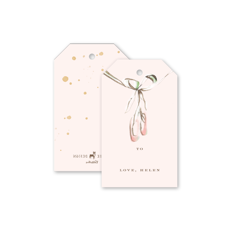 Ballerina Girl Gift Tags