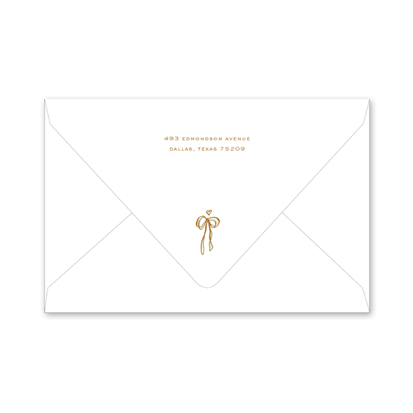 Copper Wreath Twins Birth Announcement Envelopes