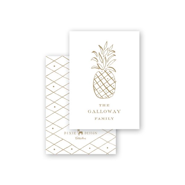 Diamond Pineapple Calling Card