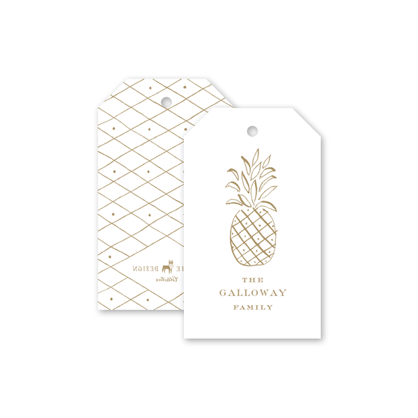 Diamond Pineapple Gift Tags