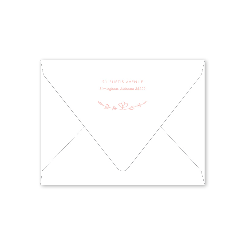 Scandinavian Heart Pink Baby Shower Envelopes