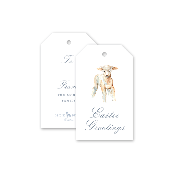 Lamb Easter Gift Tags