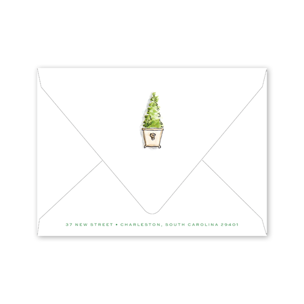 Emerald Garden Patio Party Envelopes