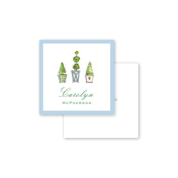 Emerald Garden Topiaries Square Calling Card