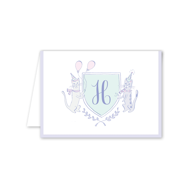 Purr-fect Kitty Crest Folded Notecard