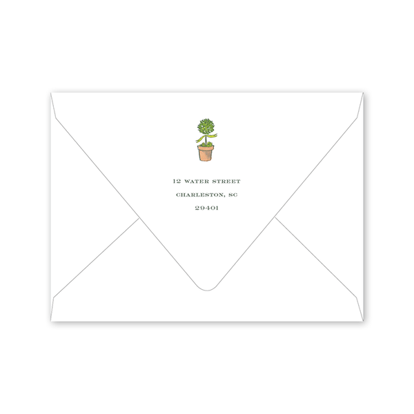 Terracotta Topiaries Notecard Envelopes