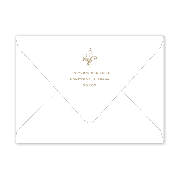 Fleur De Lis Photo Graduation Envelopes