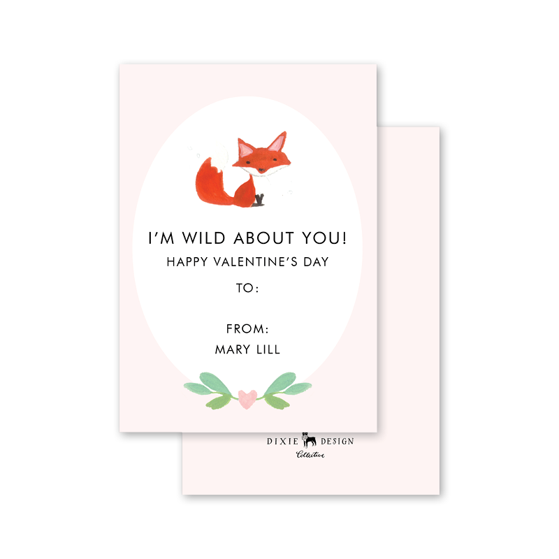 Animal Friends Fox Valentine