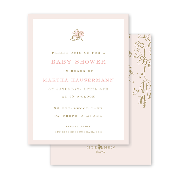Camellias Blush Baby Shower