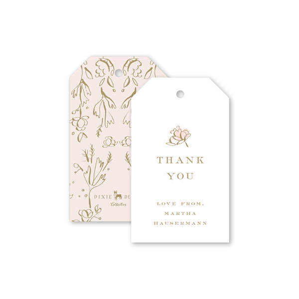 Camellias Blush II Gift Tag