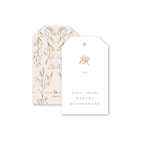 Camellias Blush Gift Tag