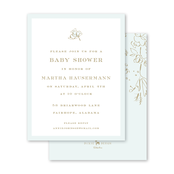 Camellias Mist Baby Shower