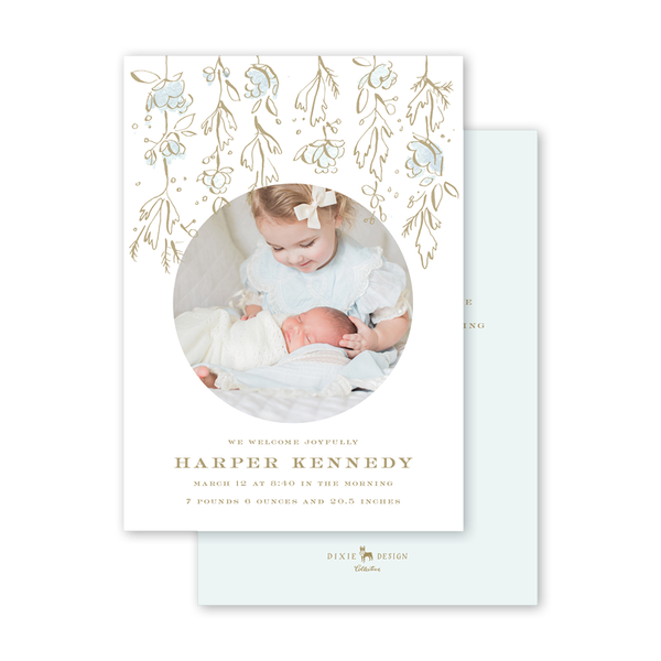 Camellias Mist Birth Announcement