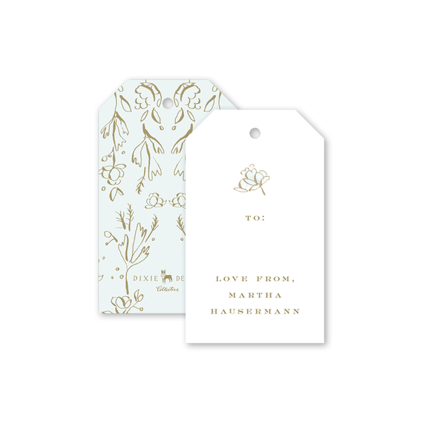 Camellias Mist Gift Tag