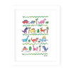 Dinosaurs & Zoo Animals Art Print Set