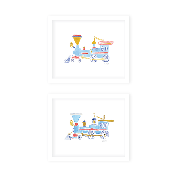 Train Art Print Set