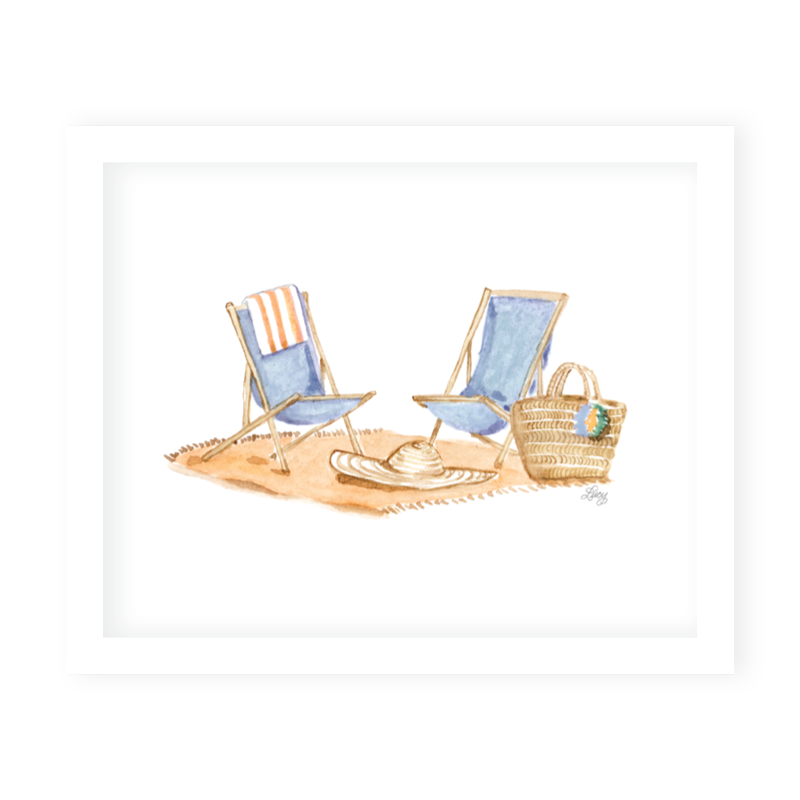 Somerset Chairs Art Print