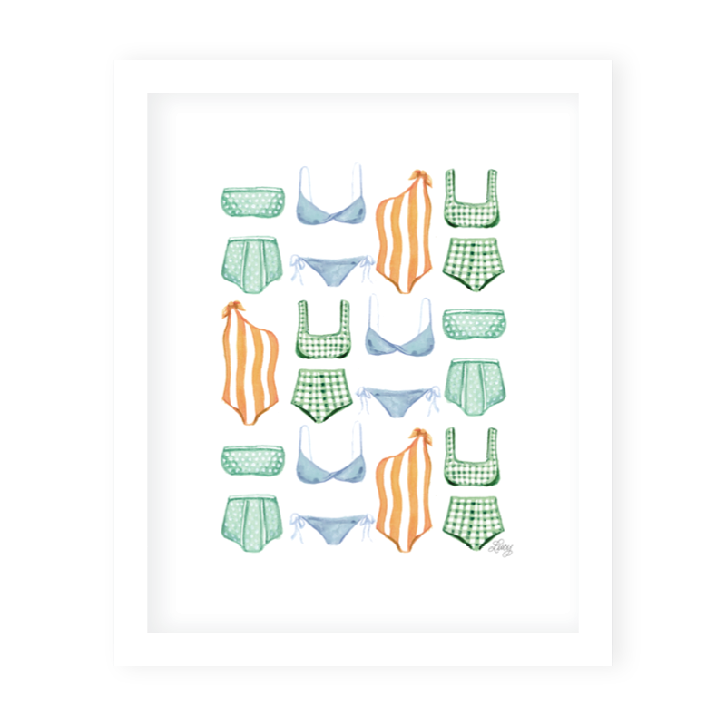 Somerset Swim Art Print
