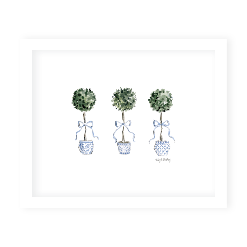 Grandmillennial Topiaries Art Print