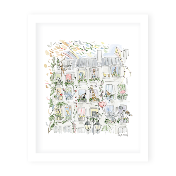 Zoo in the City Art Print