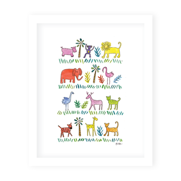 Zoo Animals Art Print