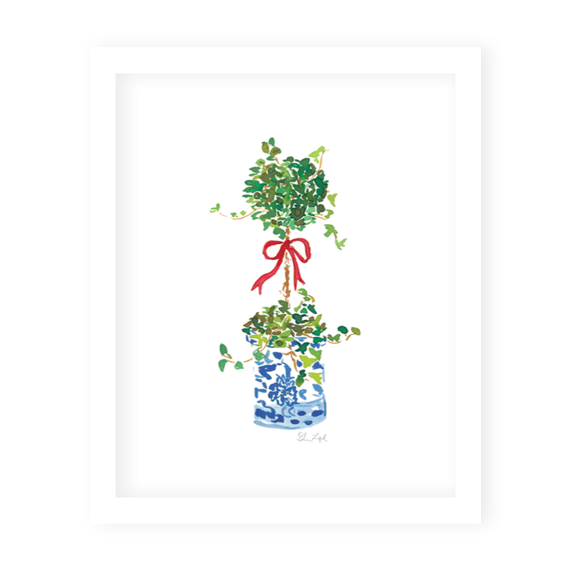 Ivy Topiary Art Print