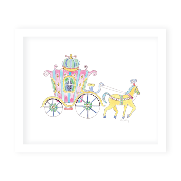Fairytale Carriage Art Print