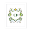 Golf Crest Monogram Art Print