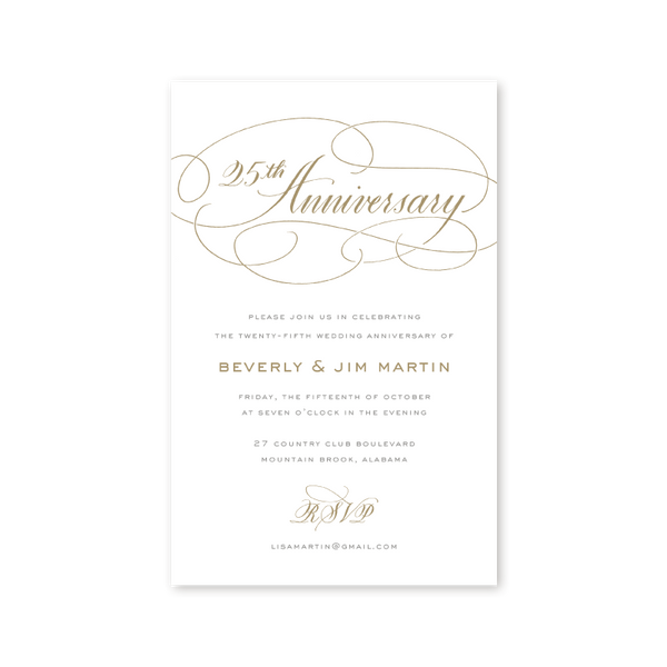 Anniversary Party Invitations – 25th Anniversary Party Invitations