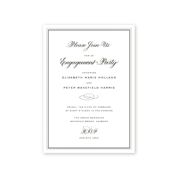 Personalized Engagement Party Invitations Handcrafted Designs