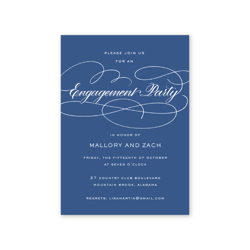 Blue Flourish Engagement Party