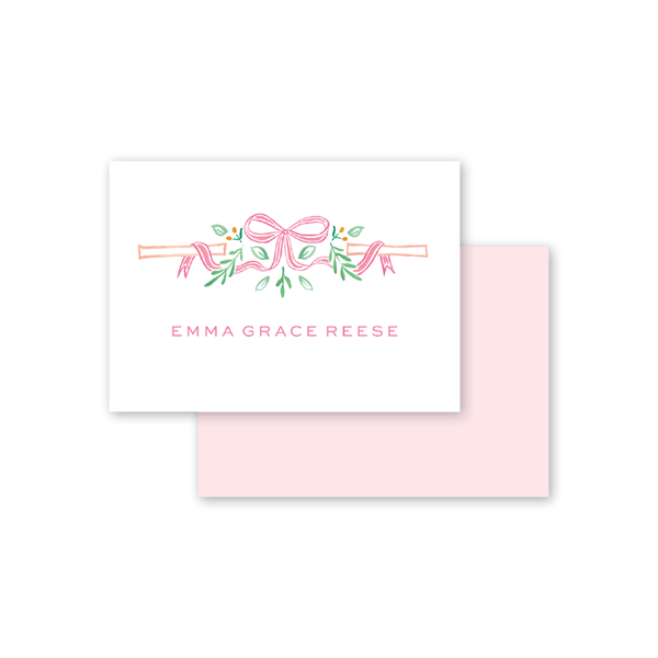Bamboo Bloom Coral Calling Card