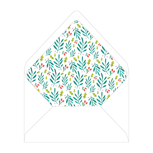 Bamboo and Holly Crest Invitation Liner