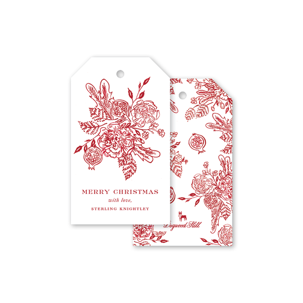 Crowning Glory Cranberry Gift Tags
