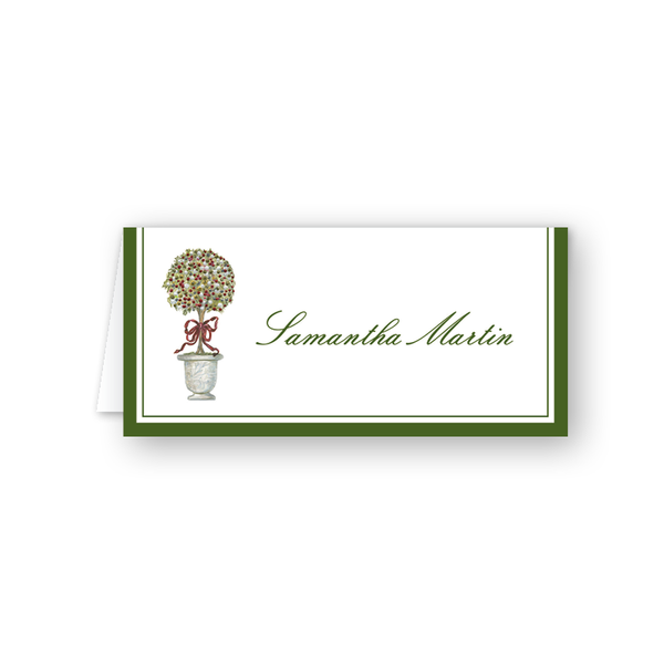 Holiday Topiary Place Card